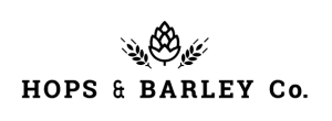 Hops And Barley Logo Black